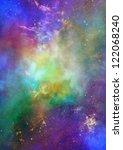 star field in space  a nebulae... | Shutterstock . vector #122068240