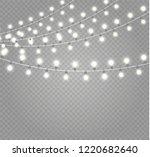 christmas lights isolated... | Shutterstock .eps vector #1220682640