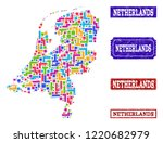 mosaic brick style map of... | Shutterstock .eps vector #1220682979