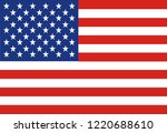 flag of the united states.... | Shutterstock .eps vector #1220688610