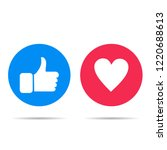 thumbs up and heart icon on a... | Shutterstock .eps vector #1220688613