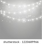 christmas lights isolated... | Shutterstock .eps vector #1220689966