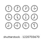 silhouette vector lunchtime... | Shutterstock .eps vector #1220703670