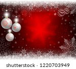 christmas red design with... | Shutterstock .eps vector #1220703949