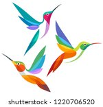 Stylized Birds   Hummingbirds...