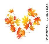 maple leaves vector background  ... | Shutterstock .eps vector #1220711656