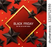 black friday sale banner layout ... | Shutterstock .eps vector #1220712550