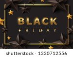 black friday sale banner layout ... | Shutterstock .eps vector #1220712556
