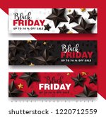 black friday sale banner layout ... | Shutterstock .eps vector #1220712559