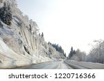 winter in schwarzwald. road in...   Shutterstock . vector #1220716366