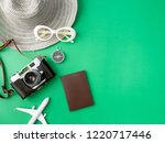 top view travel concept with... | Shutterstock . vector #1220717446