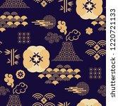 beautiful japanese seamless... | Shutterstock .eps vector #1220721133