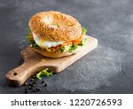 Fresh Healthy Bagel Sandwich...