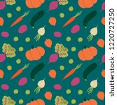 vector seamless pattern... | Shutterstock .eps vector #1220727250