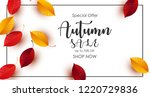 autumn sale background with... | Shutterstock .eps vector #1220729836