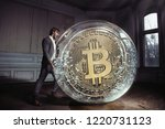 man having problems with crypto ... | Shutterstock . vector #1220731123