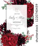 wedding invite  invitation save ... | Shutterstock .eps vector #1220740459