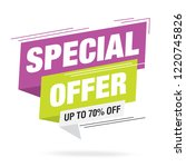 sale and special offer tag ... | Shutterstock .eps vector #1220745826