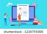 blogging  blogger. freelance.... | Shutterstock .eps vector #1220755300