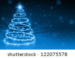 the best christmas golden tree... | Shutterstock . vector #122075578