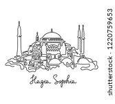 hagia sophia  istanbul... | Shutterstock .eps vector #1220759653