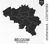 map of belgium   vector... | Shutterstock .eps vector #1220760583