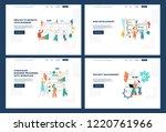 vector business outsourse... | Shutterstock .eps vector #1220761966