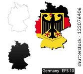 maps of germany  3 dimensional... | Shutterstock .eps vector #122076406