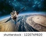 space satellite monitoring from ... | Shutterstock . vector #1220769820