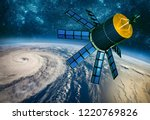 space satellite monitoring from ... | Shutterstock . vector #1220769826