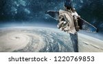 space satellite monitoring from ... | Shutterstock . vector #1220769853
