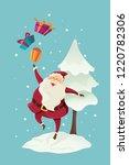 merry christmas santa claus... | Shutterstock .eps vector #1220782306
