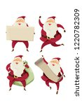 christmas santa claus character ... | Shutterstock .eps vector #1220782309