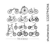 types of bicycles. vector hand... | Shutterstock .eps vector #1220794246