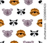 seamless vector pattern with... | Shutterstock .eps vector #1220800423
