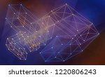 blockchain network background....   Shutterstock . vector #1220806243