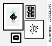 a set of four framed art prints ... | Shutterstock .eps vector #1220821060