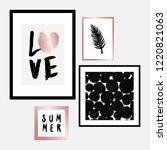 a set of four framed art prints ... | Shutterstock .eps vector #1220821063