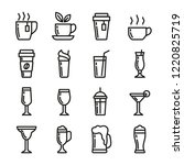 drinks vector icons set.... | Shutterstock .eps vector #1220825719