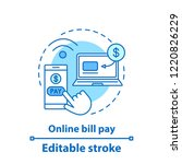 online bill pay concept icon.... | Shutterstock .eps vector #1220826229