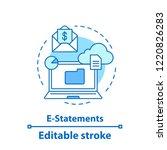 e statement concept icon. mail...   Shutterstock .eps vector #1220826283