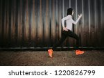 arabic woman runner  making... | Shutterstock . vector #1220826799