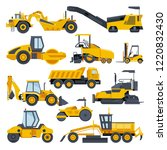 excavator road construction... | Shutterstock .eps vector #1220832430