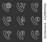 phone services chalk icons set. ... | Shutterstock .eps vector #1220842066