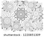 coloring book for adult and... | Shutterstock .eps vector #1220851309