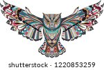 Stock vector color bird owl 1220853259