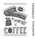 banner of coffee with... | Shutterstock .eps vector #1220860363