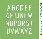 vector uppercase alphabet for...   Shutterstock .eps vector #1220866663