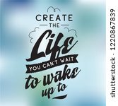 inspirational quote  motivation.... | Shutterstock .eps vector #1220867839
