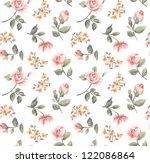 seamless pastel color vintage... | Shutterstock .eps vector #122086864
